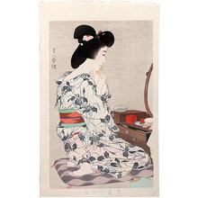 Torii Kotondo: Ayame Yukata (Cotton Kimono with Iris Pattern) - Scholten Japanese Art