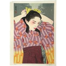 Paul Binnie: Flowers of a Hundred Years: Maroon Hakama [of 1910] (Hyakunen no Hana: Senkyuhakujuunen no Ebicha Hakama) - Scholten Japanese Art