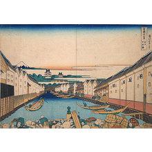 Katsushika Hokusai: Thirty-Six Views of Mt. Fuji: Nihon-bashi in Edo (Fugaku sanju-rokkei: Edo Nihon-bashi) - Scholten Japanese Art