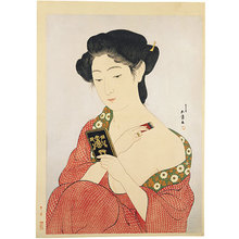 橋口五葉: Woman Applying Powder (kesho no onna) - Scholten Japanese Art