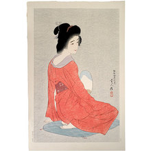 Torii Kotondo: Long Undergarment (grey ground, no pattern on kimono) (Nagajuban) - Scholten Japanese Art