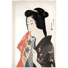 Hashiguchi Goyo: Woman Holding a Towel (Tenugui Moteru Onna) - Scholten Japanese Art