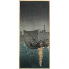 Takahashi Hiroaki: Night fishing nets at Tukuda (Tukuda no yo ami) - Scholten Japanese Art