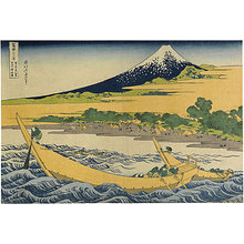 Katsushika Hokusai: Thirty-Six Views of Mt. Fuji: Tago Bay Near Ejiri on the Tokaido (Fugaku sanju-rokkei: Tokaido Ejiri Tago-no-ura Ryakuzu) - Scholten Japanese Art