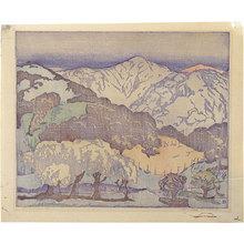Anders Gustave Aldrin: California Hills - lighter palette; monoprint - Scholten Japanese Art