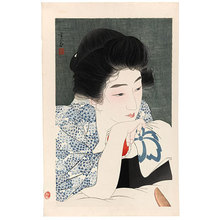鳥居言人: Morning Hair (Asanegami) - Scholten Japanese Art