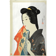 Hashiguchi Goyo: Woman with Hand Towel (Tenugui moteru onna) - Scholten Japanese Art