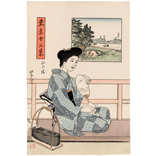 石井柏亭: Twelve Views of Tokyo: Mukojima - Scholten Japanese Art