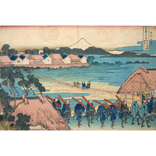 Katsushika Hokusai: Thirty-Six Views of Mt. Fuji: Fuji as Seen from the Senju Pleasure Quaters [Edo] (Fugaku sanju-rokkei: Senju kagai yori chobo no Fuji) - Scholten Japanese Art