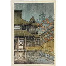 川瀬巴水: Collection of scenic views of Japan, eastern Japan edition: The Yama Temple, Sendai (Nihon fukei shu higashi Nihon hen: Sendai Yamadera) - Scholten Japanese Art