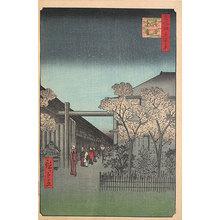 歌川広重: One Hundred Famous Views of Edo: Dawn in the Yoshiwara (Meisho Edo hyakkei: Kakuchu shinonome) - Scholten Japanese Art