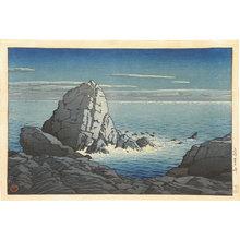 川瀬巴水: Muroto Peninsula, Tosa (Tosa Murotozaki) - Scholten Japanese Art