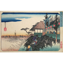 Utagawa Hiroshige: Famous Places of the Eastern Capital: East Slope at Kanda Myojin Shrine (Toto Meisho: Kanda Myojin Higashizaka) - Scholten Japanese Art