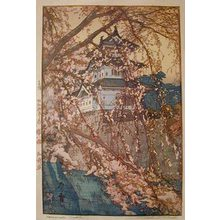 吉田博: Eight Scenes of Cherry Blossoms: Hirosaki Castle (Sakura haddai: Hirosakijo) - Scholten Japanese Art
