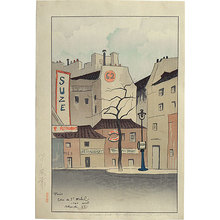 Sekiguchi Shungo: Town View from Paris: Corner of St. Michel (Paris- Fuhkei) - Scholten Japanese Art
