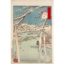 小林清親: One Hundred Views of Musashi: Fuyuki Benten at Fukagawa (Musashi hyakkei no uchi: Fukagawa, Fuyuki Benten) - Scholten Japanese Art