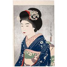 吉川観方: Kanpo's Creative Prints, First Series: The Geisha Hinazo (Kanpo Sosaku-Hanga Shu Daiishu: Hinazo) - Scholten Japanese Art