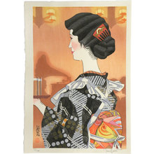 Paul Binnie: Flowers of a Hundred Years: Café Waitress of 1930 (Hyakunen no Hana: Kafé no Jokyu) - Scholten Japanese Art