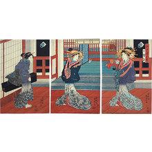 歌川国貞: Eight Views of Edo Figures: Shinagawa (Edo sugata hakkei Shinagawa) - Scholten Japanese Art
