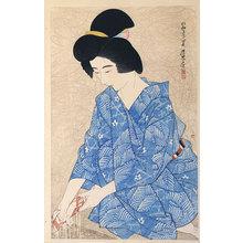 伊東深水: The First Series of Modern Beauties: After a Bath (Gendai bijinshu dai-isshu: Yoku-go) - Scholten Japanese Art