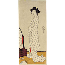 Friedrich Capelari: Woman Before a Mirror - Scholten Japanese Art