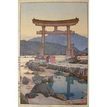 吉田博: Benten Torii at Nezugaseki (Nezumigaseki bentenshima) - Scholten Japanese Art