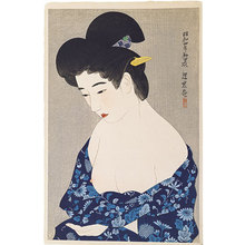 Ito Shinsui: The First Series of Modern Beauties: New Cotton Kimono (Gendai bijinshu dai-isshu: Hatsu yukata) - Scholten Japanese Art