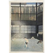 Kasamatsu Shiro: Morning at the Hot Springs, Nozawa, Shinshu Province - Scholten Japanese Art