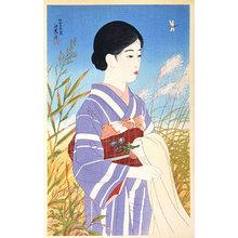 伊東深水: The Second Series of Modern Beauties: Bright Autumn (Gendai bijinshu dai-nishu: Akibare) - Scholten Japanese Art