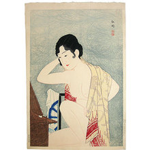 Takahashi Hiroaki: Make-up before the mirror (Kagami no mae- Kesho) - Scholten Japanese Art