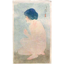 伊東深水: Twelve Images of Modern Beauties: Bathing in Early Summer (Shin bijin junisugata: Shoka no yoku) - Scholten Japanese Art