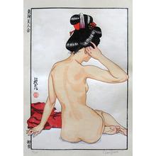 Paul Binnie: A Collection of Eastern Brocade Beauties: First Night (Azuma nishiki bijin awase: Shoya) - Scholten Japanese Art