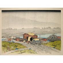 橋口五葉: Rain at Yabakei - Scholten Japanese Art