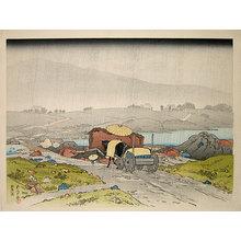 Hashiguchi Goyo: Rain at Yabakei - Scholten Japanese Art