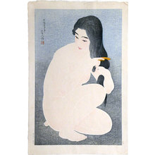 鳥居言人: Combing Hair (Kamisuki) - Scholten Japanese Art