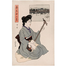 石井柏亭: Twelve Views of Tokyo: Shitaya - Scholten Japanese Art
