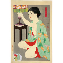 Morikane Narita: Twenty-Four Figures of Charming Women: Lamp (Adesugata Nijushiko: Ranpu) - Scholten Japanese Art