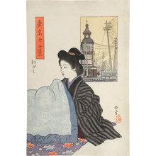Ishii Hakutei: Twelve Views of Tokyo: Shinbashi (Tokyo Junikei: Shinbashi) - Scholten Japanese Art