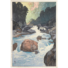 Yoshida Hiroshi: Twelve Scenes in the Japan Alps: Kurobe River (Nihon arupusu juni dai no uchi: Kurobegawa) - Scholten Japanese Art