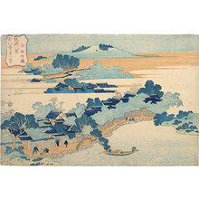 葛飾北斎: Eight Views of Ryukyu: Bamboo Grove of Sanson (Ryukyu Hakkei: Sanson chikuri) - Scholten Japanese Art