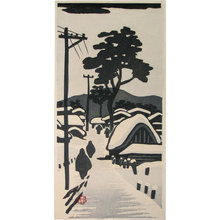 Okuyama Gihachiro: snowy landscape - Scholten Japanese Art