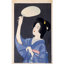 伊東深水: The Second Series of Modern Beauties: Firefly (Gendai bijinshu dai-nishu: Hotaru) - Scholten Japanese Art