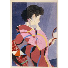 伊東深水: Hand Mirror (Tekagami) - Scholten Japanese Art