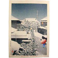 Kawase Hasui: Snow at Daichi (Daichi no yuki) - Scholten Japanese Art