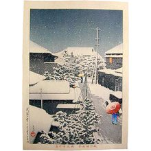 川瀬巴水: Snow at Daichi (Daichi no yuki) - Scholten Japanese Art