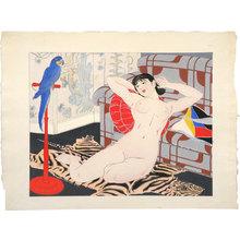 Ishikawa Toraji: Ten Types of Female Nudes: Blue Parrot (Rajo jusshu: Buryu inko) - Scholten Japanese Art