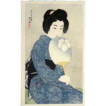Ito Shinsui: Twelve Images of Modern Beauties: Cotton Kimono (Shin bijin junisugata: Yukata) - Scholten Japanese Art