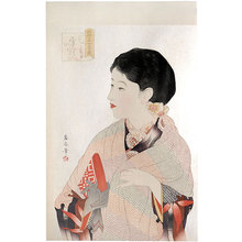 Watanabe Ikuharu: Competing Beauties in the Showa Era: December [Lunar Calendar], Snow, Sky (Showa Bijo Sugata Kurabe: Harumachi-Zuki, Yukizora) - Scholten Japanese Art