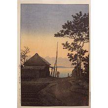 川瀬巴水: Evening at Asao, Ibaragi prefecture (Asao no yu: Ibaragiken) - Scholten Japanese Art
