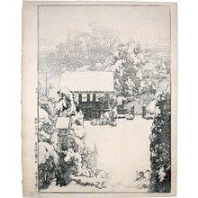 Yoshida Hiroshi: Snow at Nakazato (Nakazato no Yuki) - Scholten Japanese Art